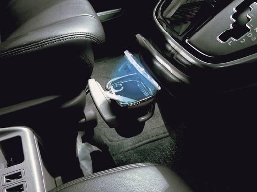 Napelemes LED világítású autós hamutartó