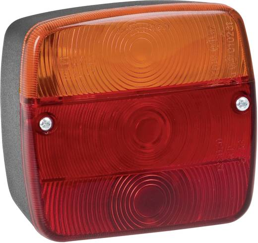 Utánfutó lámpa rendszámtábla megvilágítással, 3 foglalatos, 12/24 V, SecoRüt 80245