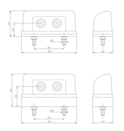 LED-es rendszámtábla megvilágítás, 12/24 V, SecoRüt 90235
