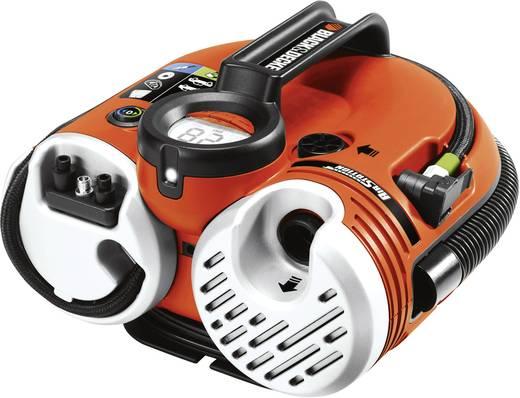 Autós kompresszor 12/230V vagy akkus üzem, 11bar, Black and Decker ASI500