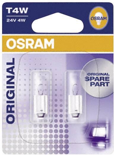 OSRAM Standard T4W 24 V 24 V 1 pár BA9s, átlátszó