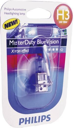 Philips MasterDuty Blue Vision H3 24 V 1 pár PK22s, kék