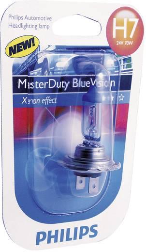 Philips MasterDuty Blue Vision H7 24 V 1 pár PX26d, kék