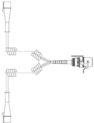 Spirális összekötő kábel, 15 pólusról 7 pólusra, SecoRüt 40510