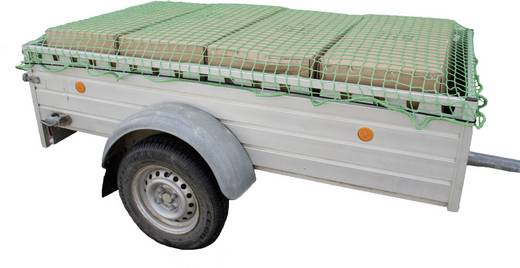 Utánfutó- és csomagtartó háló, 4 x 3 m, 25.166
