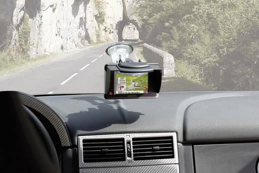 GPS Navigáció és monitor árnyékoló, napellenző, vakítás gátló takaró fedél, vezetéshez 120 mm Herbert Richter 25500