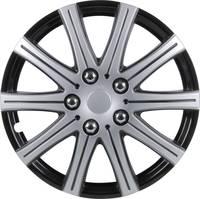 Autó dísztárcsa készlet 4 db, szürke (fém), fekete (fém), Adelaide R15 cartrend