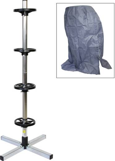 Keréktartó abroncsfa, keréktartó állvány, abroncsvédő huzattal, max. 225 mm-es kerékszélességig, HP Autozubehör 82.110