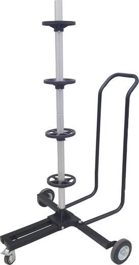 Keréktartó abroncsfa, keréktartó állvány kerekekkel, kettős irányítókarral, max. 225 mm kerékszélességig 82.116