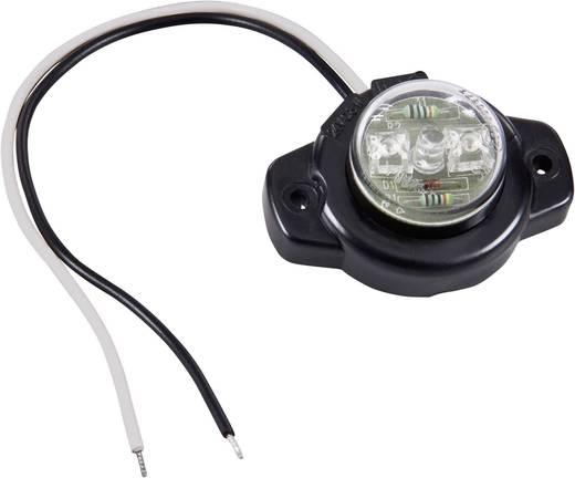 LED-es oldalsó helyzetjelző lámpa, kerek, fehér, 12/24 V, SecoRüt 24129