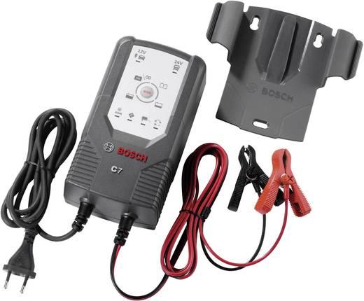 Bosch autó akkumulátor töltő, automatikus akkutöltő 12 V/24 V 5 A/7 A Bosch C7 0189999070 0189999 07M-7VW