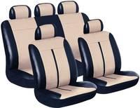 Eufab Buffalo, műbőr autós üléshuzat készlet, 11 részes, fekete, bézs, univerzális (28289) Eufab