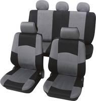Autó üléshuzat készlet, 17 részes, fekete, szürke, egyes ülés/hátsó ülés, Petex Classic, (24274918) Petex