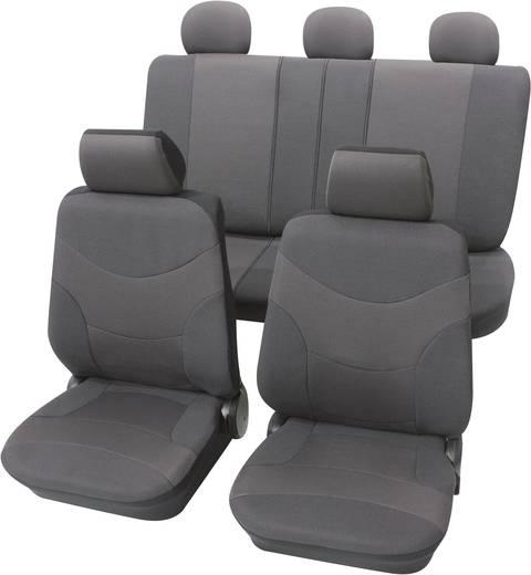 Petex Vesuv, autó üléshuzat készlet, 17 részes, szürke, egyes ülés/hátsó ülés