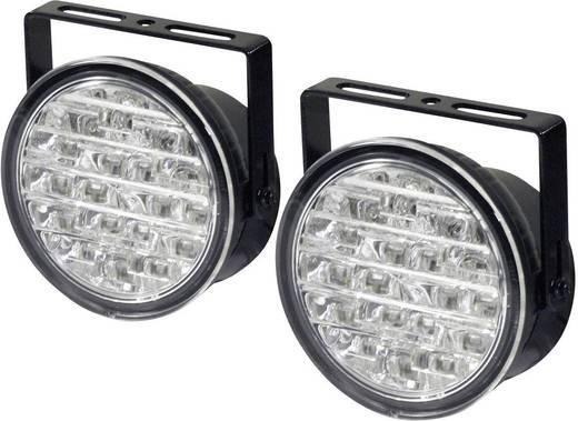 LED-es autós nappali világítás, 18 LED, Ø 90 x 36 mm, DINO 610795