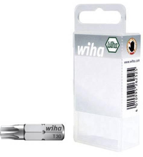 """Torx bit készlet 6,3 mm (1/4""""), T10/15/20, hossz: 25 mm, DIN 3126-C 6,3, ISO 1173, 3 részes, Wiha 07871"""