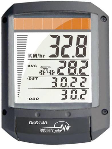 Napelemes vezeték nélküli kerékpárcomputer 4 az1-ben, Security Plus DK148