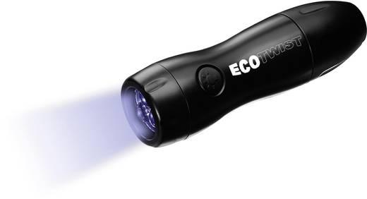 LED-es zseblámpa forgatós, 6 perc világítás/30 másodperc forgatás, fekete, EverLight ECO Twist F378 9-4007