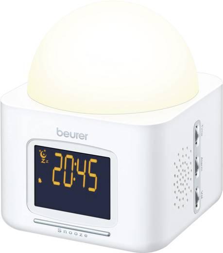 Beurer WL 30 LED fénnyel ébresztős digitális ébresztőóra, 145x120x120 mm, fehér