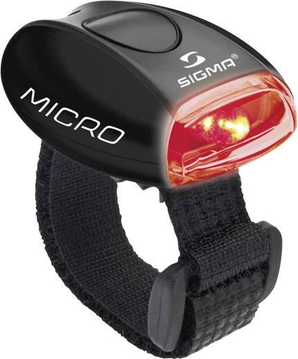 LED biztonsági fény, fekete/vörös, Micro