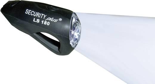 Mini LED-es, akkus kerékpár első lámpa, fekete, Security Plus 0180
