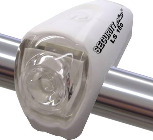 Mini LED-es, akkus kerékpár első lámpa, fehér, Security Plus 0181