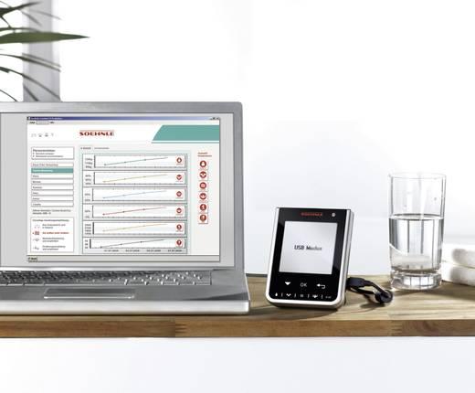Digitális testanalizáló személymérleg, vezeték nélküli kijelzővel, 150 kg, Soehnle Comfort Select 63760