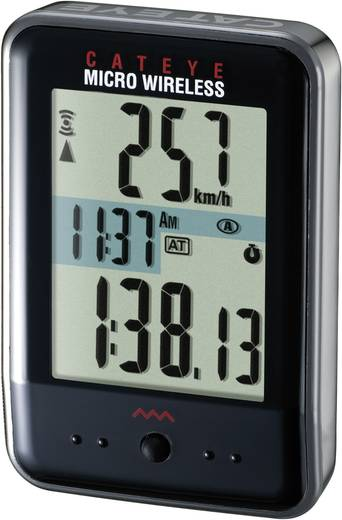 Kerékpár számítógép, kerékpár tachométer, kerékpár tartozékok Kerékpárkomputer, Micro Wireless CC-MC 200 W003524051