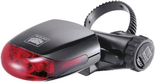 LED-es kerékpár hátsó lámpa, elemes, piros/fekete, Cateye TL-LD270G