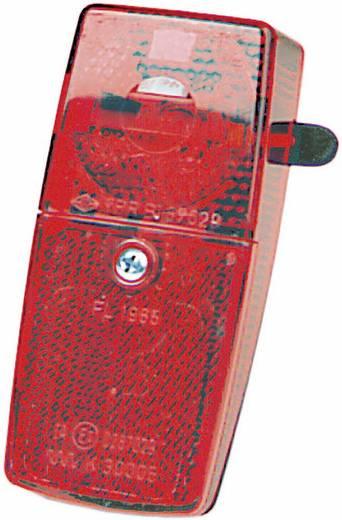 Kerékpár hátsó lámpa, dinamóhoz, piros/fekete, proFEX 60513