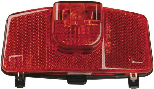 Kerékpár hátsó lámpa, dinamóhoz, piros/fekete, proFEX 60563