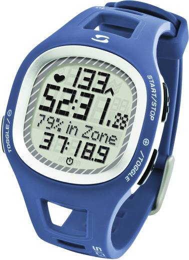 Pulzusmérő karóra, fitnesz és sportóra kék Sigma PC 10.11