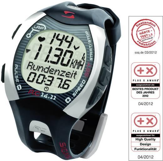 Pulzusmérő karóra, fitnesz és sportóra szürke Sigma RC 14.11