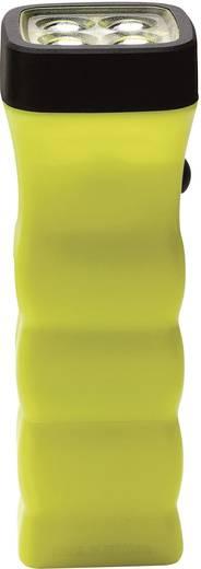 Akkus kézilámpa, 5 mm-es Nichia LED-del, TÜV-A 09 ATEX 0003 417222 , 12 óra, sárga, AccuLux Four LED EX