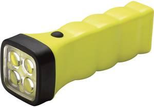 Akkus kézilámpa, 5 mm-es Nichia LED-del, TÜV-A 09 ATEX 0003 417222 , 12 óra, sárga, AccuLux Four LED EX AccuLux