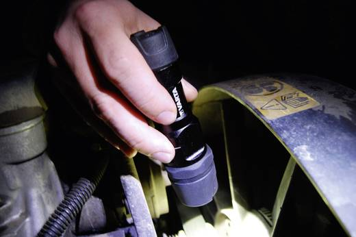 LED-es kézilámpa, 1 W Cree XPC Q5 fehér LED, 5 óra, fekete, VARTA 18700101421