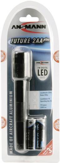 LED-es zseblámpa, 4 óra, fekete, Ansmann Future 2 AA plus 5816633-510