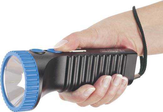 Akkus, LED-es kézilámpa, Cree LED, 6 óra, fekete/kék, AccuLux PowerLux 422083