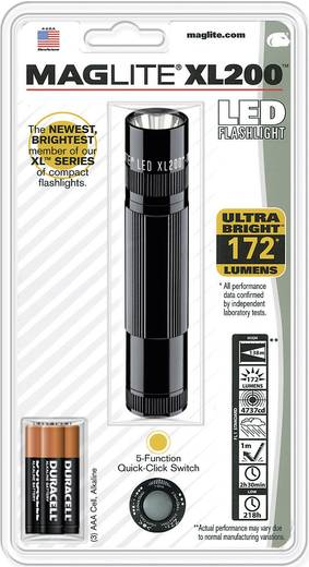 LED-es kézilámpa, 2,5 óra, fekete, Mag-Lite LED XL200-S3016