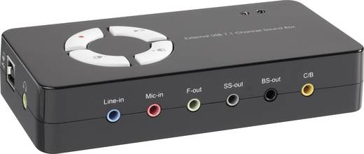 Conrad USB-SoundBox 7.1, fekete
