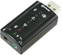 Külső 7.1 hangkártya, külső fejhallgató csatlakozó, külső hangerőszabályozó, Renkforce (RF-4826313) Renkforce