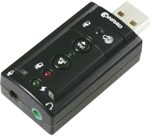 USB-s 7.1-es hangkártya, Conrad 873877