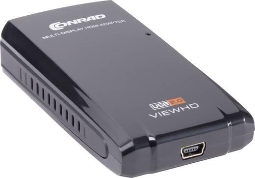 Külső USB-s grafikus kártya, Conrad DVI / HDMI