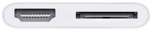 Apple HDMI átalakító AV adapter [30 pólusú dugó - 1x HDMI aljzat] 0.1 m fehér MD098ZM/A