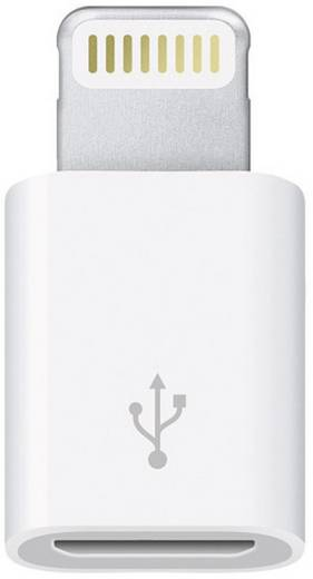 Apple Lightning - Micro USB átalakító adapter iPhone iPad iPod OEM csatlakozókhoz MD820ZM/A