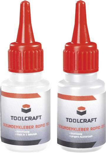 Pillanatragasztó készlet,TOOLCRAFT ROPID 150 & ROPID 200
