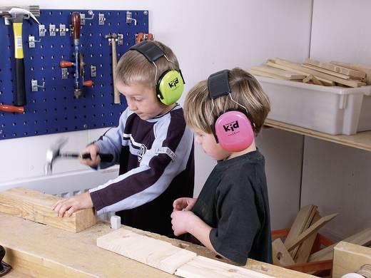 PELTOR Fejpántos gyermek hallásvédő fültok, zajcsillapító fülvédő, neonzöld, PELTOR™ KID H510AK-442-GB KID