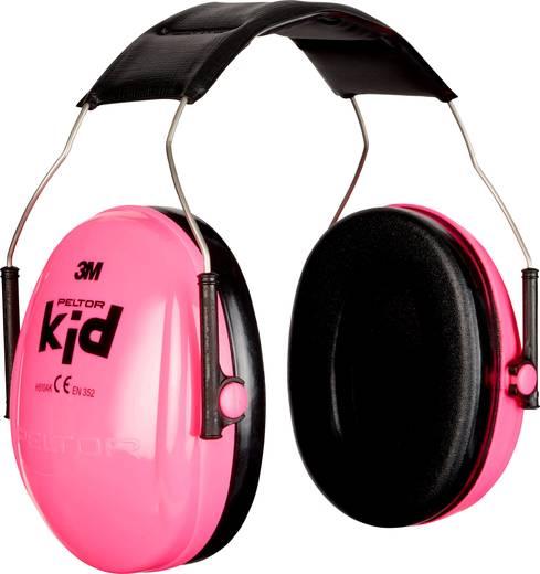 PELTOR Fejpántos gyermek hallásvédő fültok, zajcsillapító fülvédő, neon-rózsaszín, PELTOR™ KID H510AK-442-RE