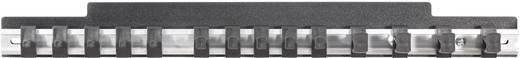 Csillagkulcs-villáskulcs tartó akasztós alumínium léc, 435 mm x 48 mm, Toolcraft 886892