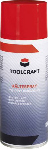 Hűtő spray, fagyasztó spray, nagyfokú hűtőhatással -45°C-ig 400 ml Toolcraft TC-KC400C